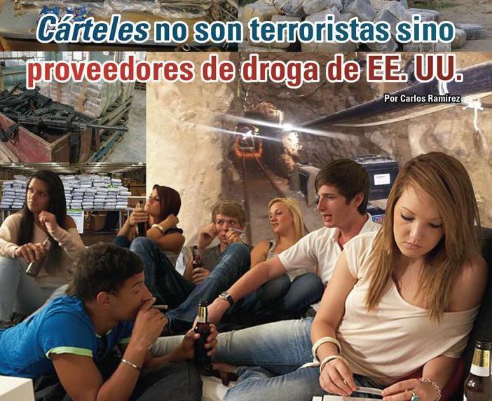 Cárteles no son terroristas sino proveedores de droga de EE. UU.: Carlos Ramírez