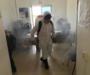 Ayuntamiento de Oaxaca efectúa cuarta jornada de desinfección del cuartel de la Policía Municipal